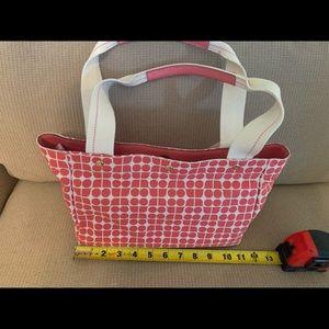 NWT Kate Spade pink Sam bag canvas leather handles